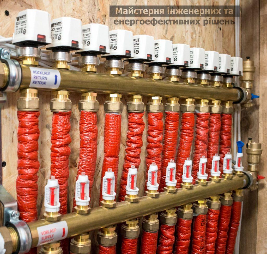Дистанционное управление отоплением, коллектор водяного теплого пола