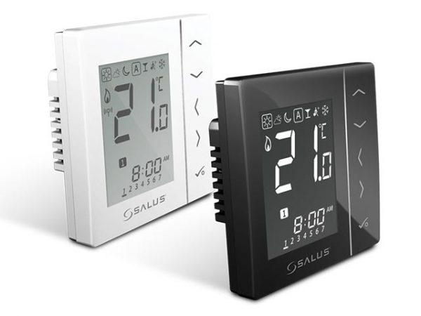 Комнатный термостат Salus VS10WRF / VS10BRF беспроводной и цифровой.